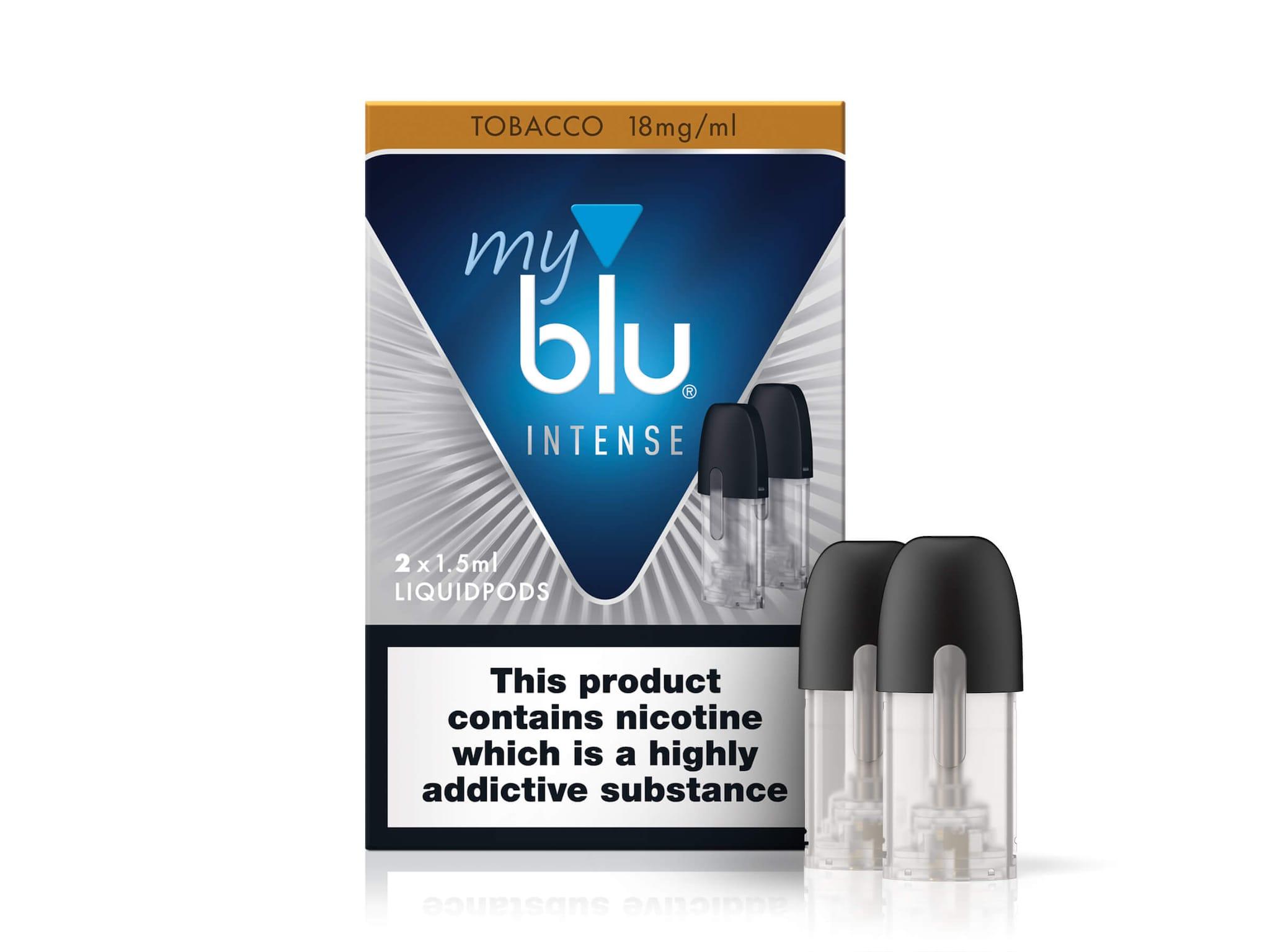 MyBlu Liquid Pods – INTENSE Tobacco – 1.6%