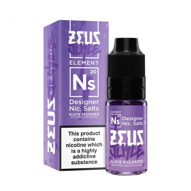 Zeus Juice – Black Reloaded Nicotine Salts – 20mg 10ml