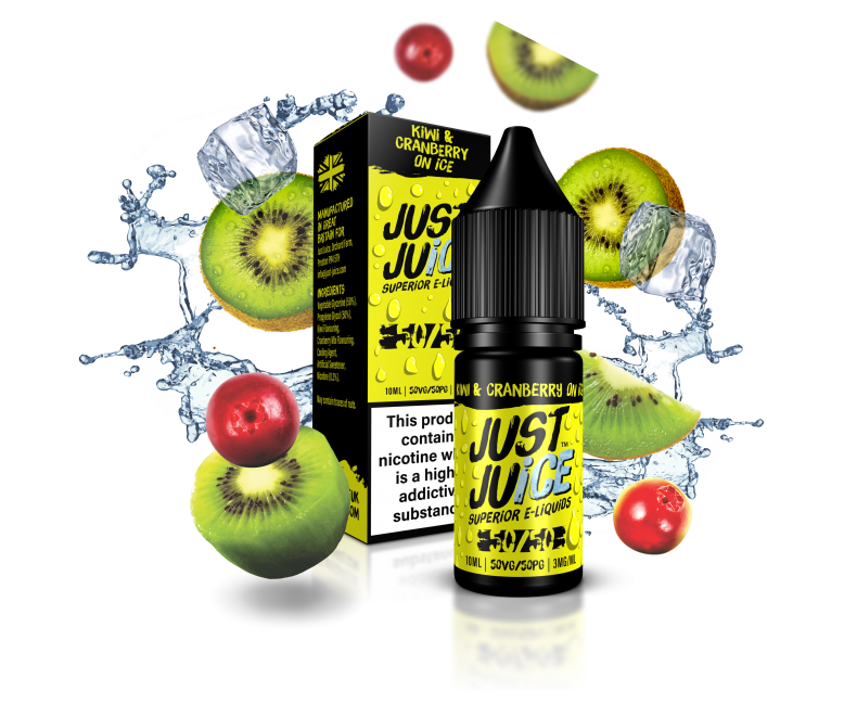 Just Juice Kiwi & Cranberry On Ice 10ml 50/50